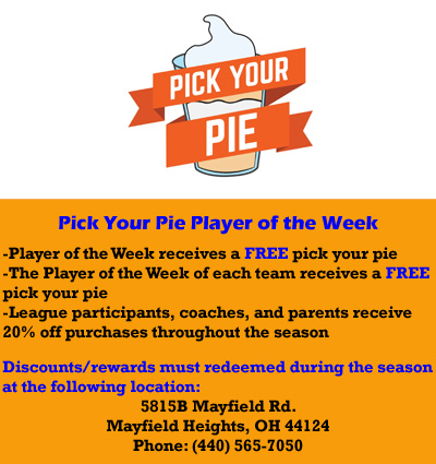 Pick Your Pie Player of the Week